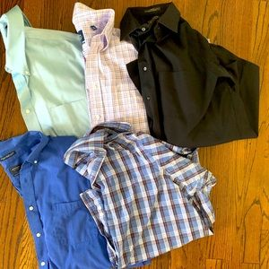 Lot of 5 Men's Dress Shirts (Same Size Range)